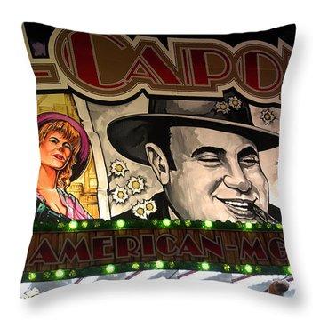 Al Capone On Funfair Throw Pillow