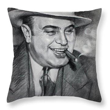 Al Capone  Throw Pillow by Ylli Haruni