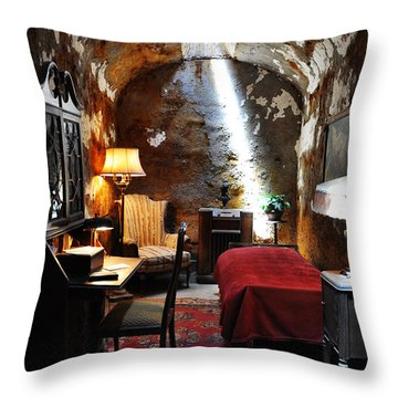 Al Capone's Cell - Eastern State Penitentiary Throw Pillow by Bill Cannon