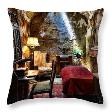 Al Capone's Cell - Scarface - Eastern State Penitentiary Throw Pillow by Paul Ward