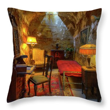 Al Capones Jail Cell Throw Pillow