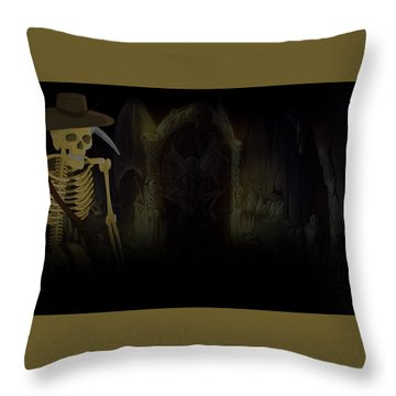 Al Emmo And The Lost Dutchman's Mine Throw Pillow