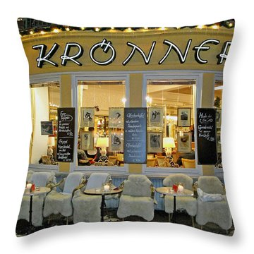Al Fresco Dining Bavarian Style Throw Pillow