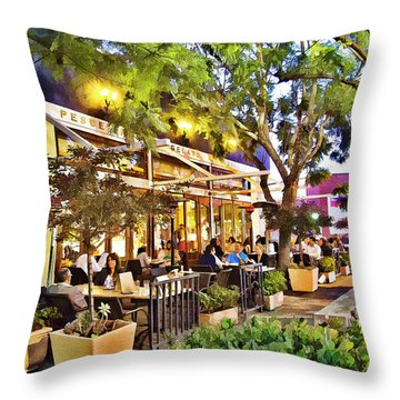 Throw Pillow featuring the photograph Al Fresco Dining by Chuck Staley