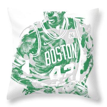 Al Horford Boston Celtics Pixel Art 6 Throw Pillow