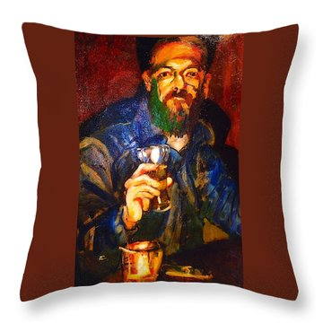 Throw Pillow featuring the painting Al by Les Leffingwell