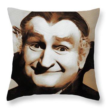 Al Lewis, Grandpa Munster Throw Pillow