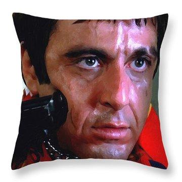 Al Pacino @ Scarface #1 Throw Pillow by Gabriel T Toro