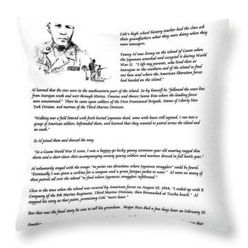Al Rios Guam Ww II Story Throw Pillow