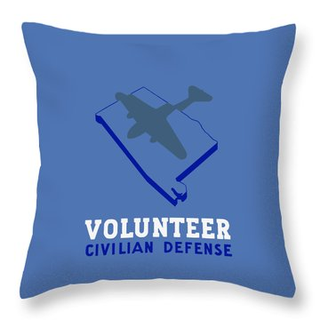Throw Pillow featuring the painting Alabama Civilian Defense - Wpa by War Is Hell Store