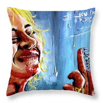 Throw Pillow featuring the painting Alabama by eVol i