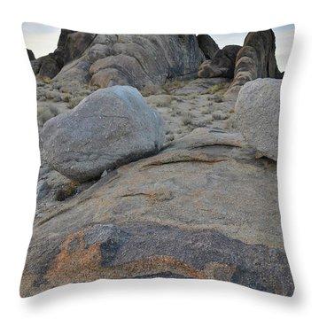 Alabama Hills Boulders At Dusk Throw Pillow