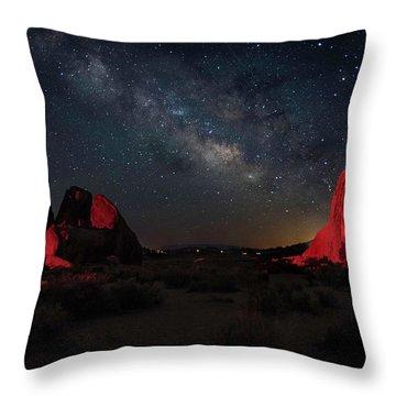 Alabama Hills Milky Way Redlight Throw Pillow