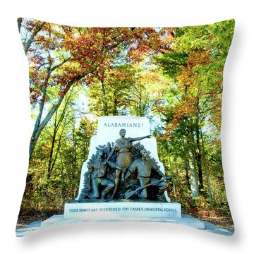 Alabama Monument At Gettysburg Throw Pillow