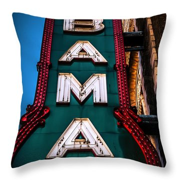 Alabama Theater Sign 1 Throw Pillow by Phillip Burrow