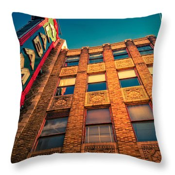 Alabama Theater Sign 2 Throw Pillow by Phillip Burrow