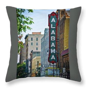 Alabama Theatre Throw Pillow