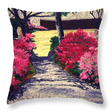 Alabama To The Wedding Garden Throw Pillow by Beth Parrish