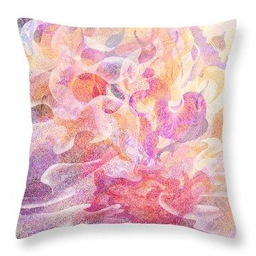 Aladdin's Lamp Throw Pillow by Rachel Christine Nowicki