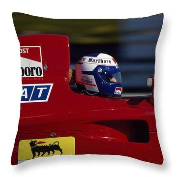 Alain Prost. 1990 French Grand Prix Throw Pillow
