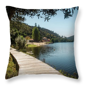 Throw Pillow featuring the photograph Alamal Beach by Carlos Caetano