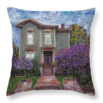 Throw Pillow featuring the painting Alameda 1888 - Italianate by Linda Weinstock