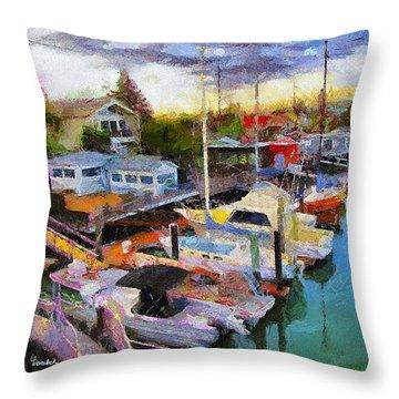 Alameda Life On The Estuary 2 Throw Pillow