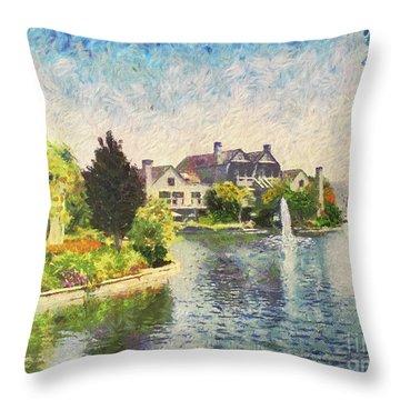 Alameda Marina Village 1 Throw Pillow by Linda Weinstock