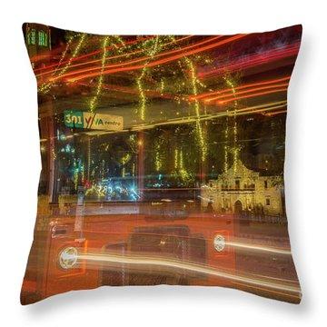 Alamo Via Streetcar Throw Pillow