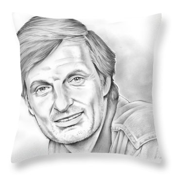 Alan Alda Throw Pillow