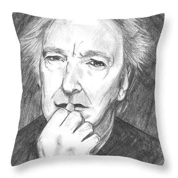 Alan Rickman Throw Pillows Fine Art America