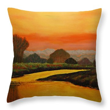 Alan's Peaceful Place Throw Pillow