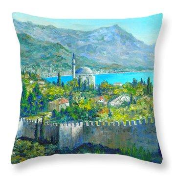 Alanya Turkey Throw Pillow by Lou Ann Bagnall