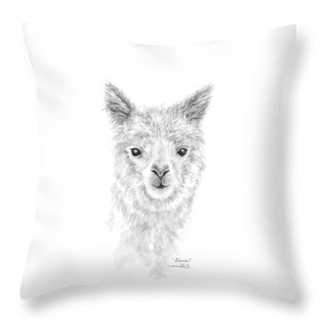 Throw Pillow featuring the drawing Alaria by K Llamas