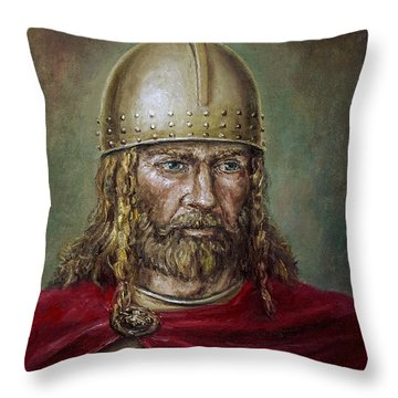 Alaric The Visigoth Throw Pillow by Arturas Slapsys