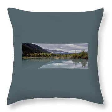 Alaska Calm Throw Pillow