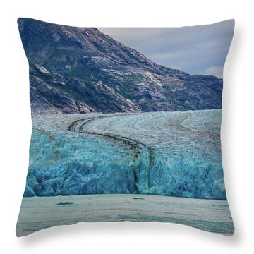 Alaska Glacier Throw Pillow