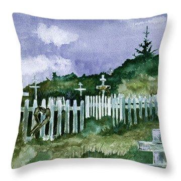 Alaska Graveyard  Throw Pillow by Brenda Owen