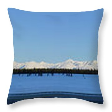 Alaska Highway Panorama Throw Pillow