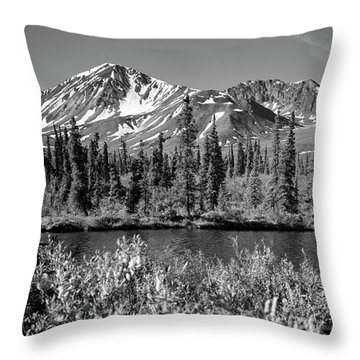 Alaska Mountains Throw Pillow by Zawhaus Photography