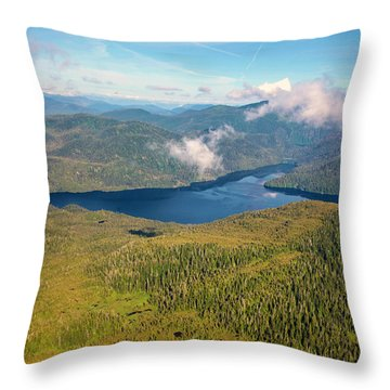 Throw Pillow featuring the photograph Alaska Overview by Madeline Ellis