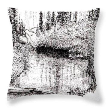 Alaska Pond Throw Pillow
