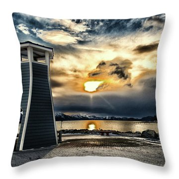 Alaska Starts Here Seward Alaska Throw Pillow