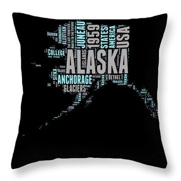 Alaska Word Cloud 1 Throw Pillow
