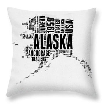 Alaska Word Cloud 2 Throw Pillow