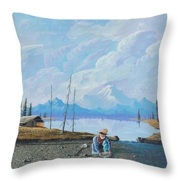 Alaskan Atm Throw Pillow