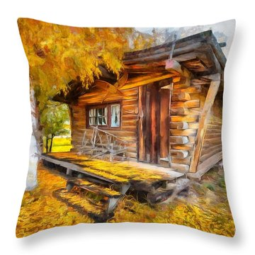 Alaskan Autumn Throw Pillow