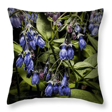 Alaskan Bluebell Throw Pillow