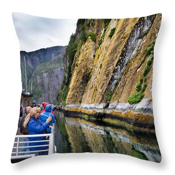 Alaskan Fjords Throw Pillow by Farol Tomson
