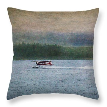 Alaskan Floatplane Throw Pillow